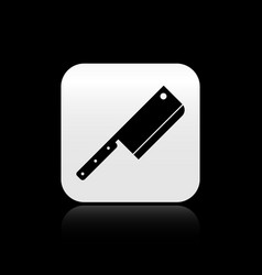 Black meat chopper icon isolated on black vector