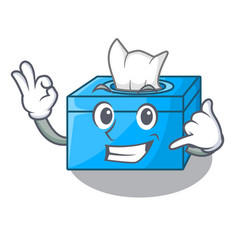 Call me tissue box isolated on the mascot vector