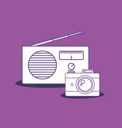 camera and radio design vector image
