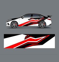 car wrap decal design graphic abstract racing vector image