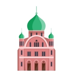 Cathedrals and churches temple building vector image