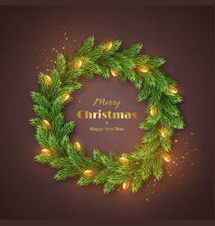 christmas holiday wreath vector image