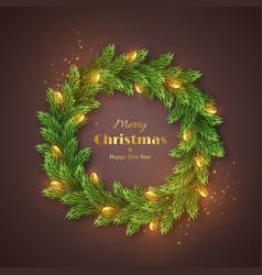 christmas holiday wreath vector image