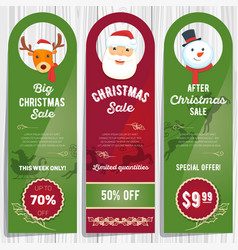 christmas sale cards 01 vector image