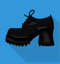 chunky isolated flat icon woman shoes vector image