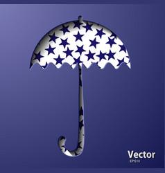 Classic elegant opened red umbrella isolated vector