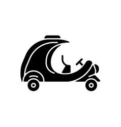 coco taxi black glyph icon vector image