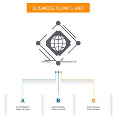 complex global internet net web business flow vector image