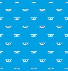Concrete bridge pattern seamless blue vector
