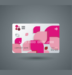 Credit card with abstract geometric shape from vector