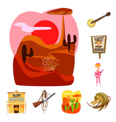 Design wild and west sign collection of vector