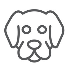 dog line icon animal and zoo mammal sign vector image