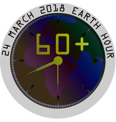 earth hour clock in the vector image