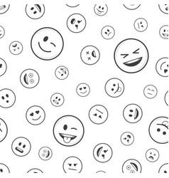 emoticon seamless pattern vector image