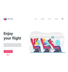 enjoy flight concept aircraft travel landing page vector image
