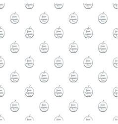 farm organic pattern seamless vector image
