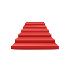 Festive events red stairs podium or pedestal front vector