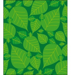foliage seamless pattern vector image