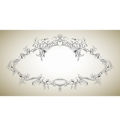 frame with floral elements for registration 8 vector image