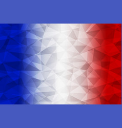 france flag polygonal vector image