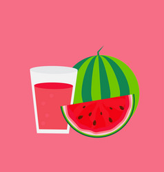 fresh watermelon juice background vector image