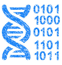 Genome grunge icon vector