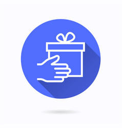 gift in hand icon for graphic and web design vector image