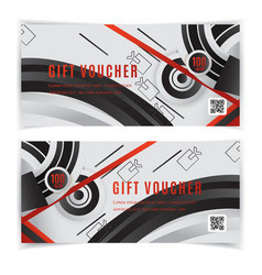 gift voucher template universal flyer grey vector image