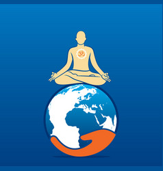 Global yoga day concept design vector