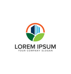 green building logo design concept template vector image