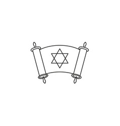 happy day of hanukkah day icon outline vector image