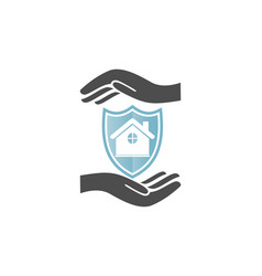 home insurance concept logo vector image