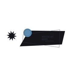 horizontal white banners with triangular shapes vector image