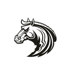 Horse animal tribal tattoo or racing sport mascot vector