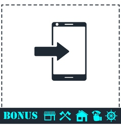 Incoming calls icon flat vector
