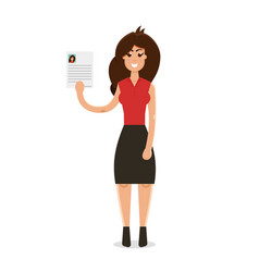 Interview a businesswomen vector