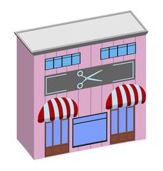 isolated hair salon vector image