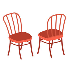 isolated two chairs with back front back view vector image