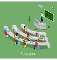 Isometric educational process lecture room vector