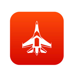 jet fighter plane icon digital red vector image