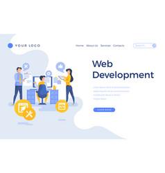 landing page template web development concept vector image