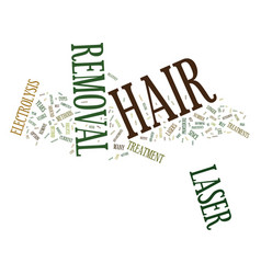 Laser hair removal text background word cloud vector