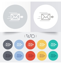 Mail delivery icon Envelope symbol Message vector image