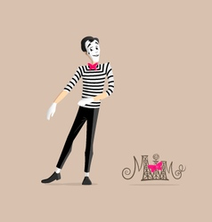 Mime performance - Walking in place vector image