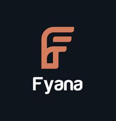 Minimalist letter f logo template vector
