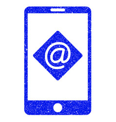Mobile email grunge icon vector