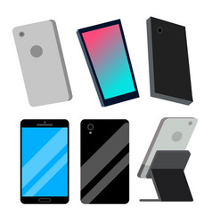modern smartphones set electronic object vector image