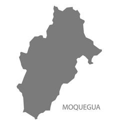 Moquegua peru map grey vector