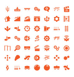 motion icons vector image