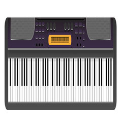 Music synthesizer vector image